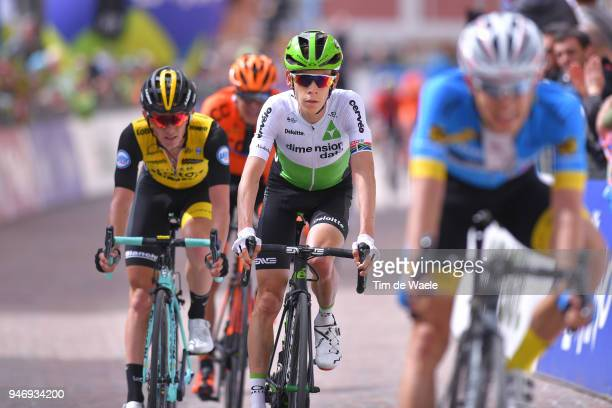 Arrival / Louis Meintjes of South Africa and Team Dimension Data / during the 42nd Tour of the Alps 2018 Stage 1 a 1346km stage from Arco to Folgaria...