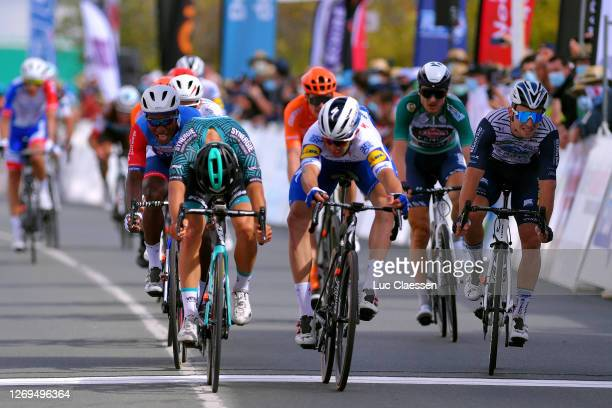 Arrival / Luca Mozzato of Italy and Team B&B Hotels - Vital Concept / Alvaro Jose Hodeg Chagui of Colombia and Team Deceuninck - Quick-Step / Pierre...