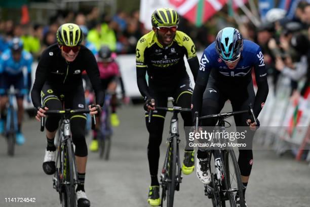 Arrival / Lucas Hamilton of Australia and Team Mitchelton - Scott / Tsgabu Grmay of Ethiopia and Team Mitchelton - Scott / David De La Cruz of Spain...