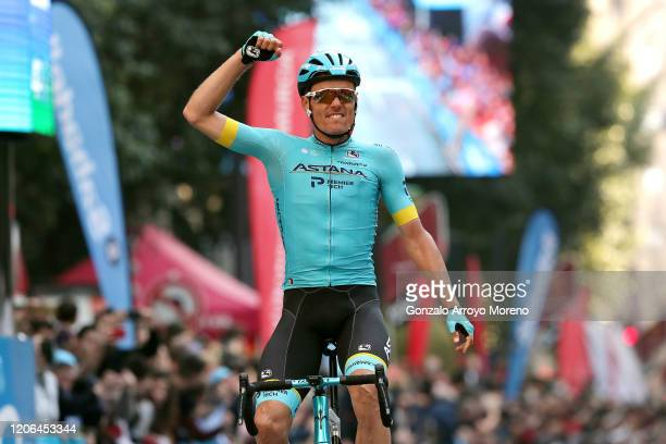 Arrival / Luis León Sanchez Gil of Spain and Astana Pro Team / Celebration / during the 40th Vuelta a Murcia 2020, Stage 2 a 179,6km stage from...