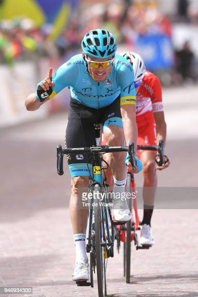Arrival / Luis Leon Sanchez of Spain and Astana Pro Team / Celebration / during the 42nd Tour of the Alps 2018 Stage 1 a 1346km stage from Arco to...