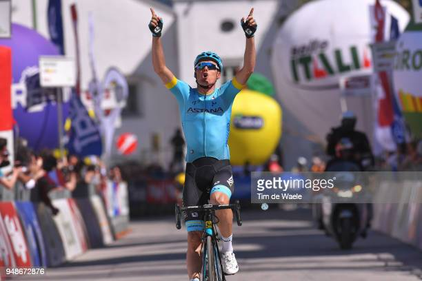 Arrival / Luis Leon Sanchez of Spain and Astana Pro Team / Celebration / during the 42nd Tour of the Alps 2018, Stage 4 a 134,4km stage from...