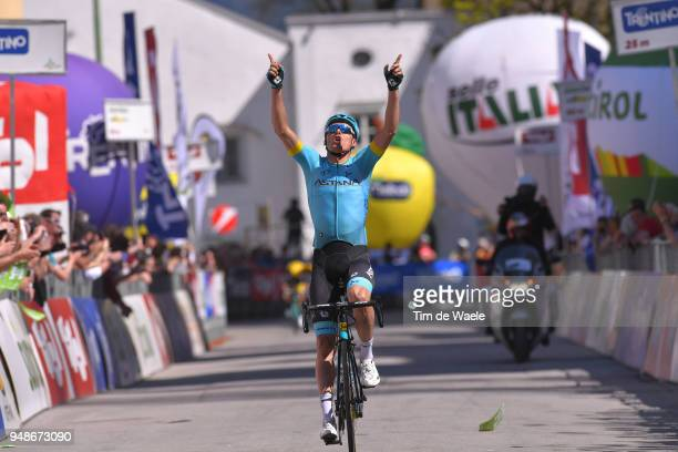 Arrival / Luis Leon Sanchez of Spain and Astana Pro Team / Celebration / during the 42nd Tour of the Alps 2018 Stage 4 a 1344km stage from...