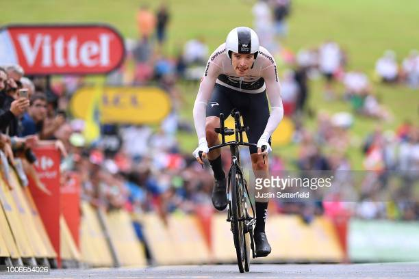 Arrival / Luke Rowe of Great Britain and Team Sky / during the 105th Tour de France 2018, Stage 20 a 31km Individual Time Trial stage from...