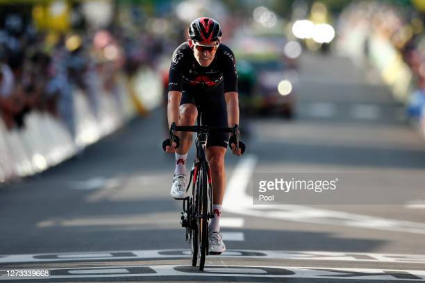 Arrival / Luke Rowe of The United Kingdom and Team INEOS Grenadiers / during 107th Tour de France 2020, Stage 19 a 166,5km stage from Bourg en Bresse...