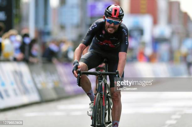Arrival / Luke Rowe of The United Kingdom and Team INEOS-Grenadiers / during the 82nd Gent-Wevelgem In Flanders Fields 2020, Men Elite a 232,5km race...