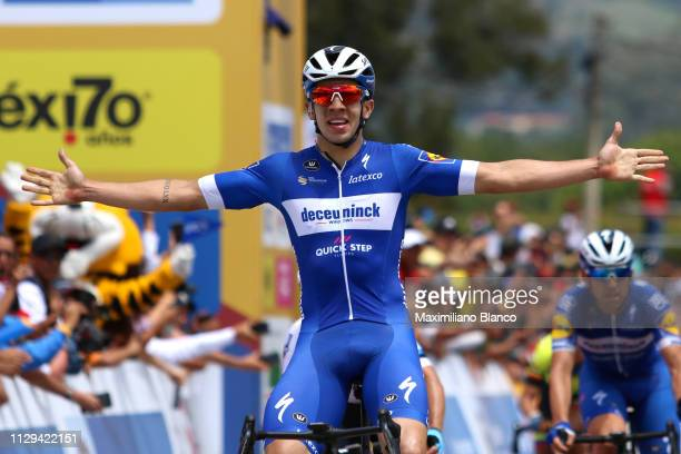Arrival / Álvaro Hodeg of Colombia and DeceuninckQuickstep Team / Celebration / during the 2nd Tour of Colombia 2019 Stage 2 a 1505km stage from La...