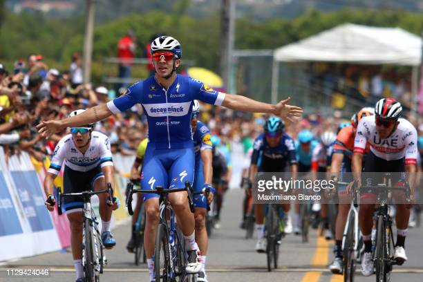 Arrival / Álvaro Hodeg of Colombia and Deceuninck-Quickstep Team / Celebration / Sebastián Molano of Colombia and Uae Team Emirates / during the 2nd...