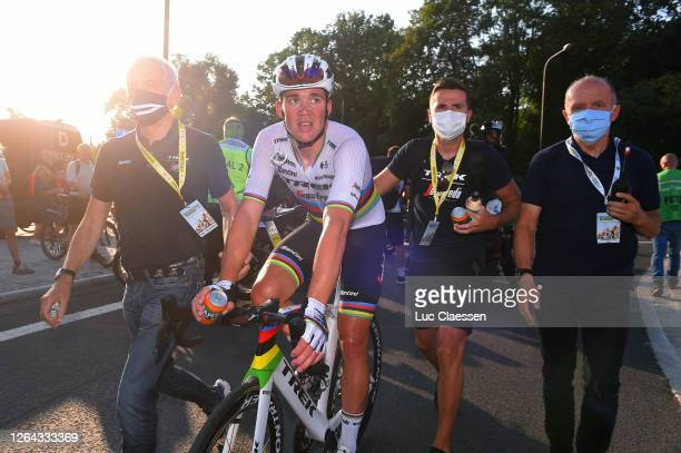 Arrival / Mads Pedersen of Denmark and Team Trek - Segafredo World Champion Jersey Celebration / during the 77th Tour of Poland 2020, Stage 2 a...
