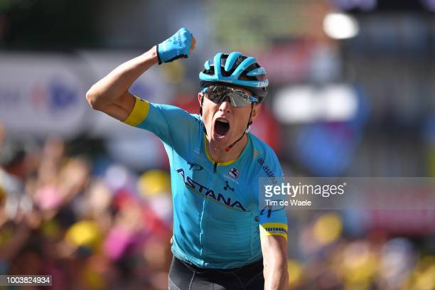 Arrival / Magnus Cort Nielsen of Denmark and Astana Pro Team / Celebration / during the 105th Tour de France 2018, Stage 15 a 181,5km stage from...