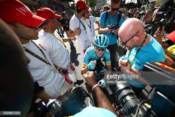 Arrival / Magnus Cort Nielsen of Denmark and Astana Pro Team /Celebration / during the 105th Tour de France 2018, Stage 15 a 181,5km stage from...
