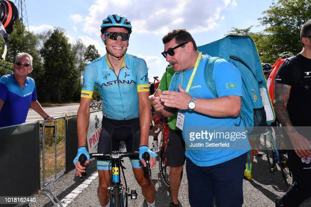 Arrival / Magnus Cort Nielsen of Denmark and Astana Pro Team / Celebration / during the 14th BinckBank Tour 2018, Stage 5 a 204,4km stage from...
