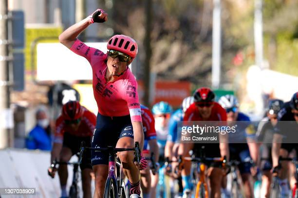 Arrival / Magnus Cort Nielsen of Denmark and Team EF Education - Nippo Celebration, Pierre Latour of France and Team Total Direct Energie, Dylan...