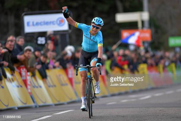Arrival / Magnus Cort Nielsen of Denmarka and Astana Pro Team / Celebration / during the 77th Paris Nice 2019 Stage 4 a 212km race from Vichy to...