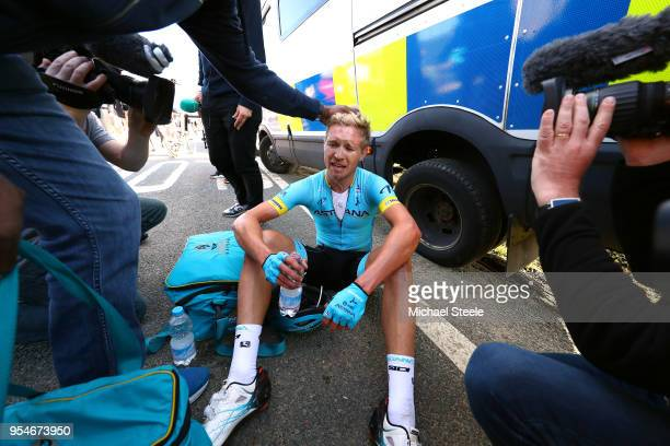 Arrival / Magnus Cort of Denmark and Astana Pro Team / during the 4th Tour of Yorkshire 2018, Stage 2 a 149km stage from Barnsley to Ilkley - Cote de...