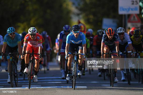 Arrival / Manuel Belletti of Italy and Team Androni Giocattoli / Carlos Barbero of Spain and Movistar Team / Juan Jose Lobato Del Valle of Spain and...