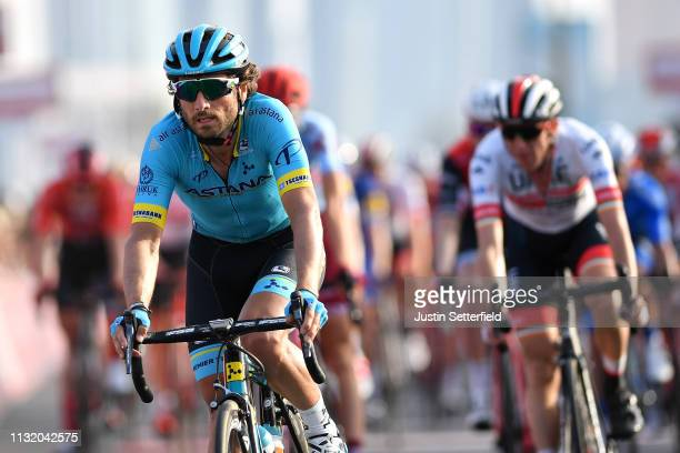 Arrival / Manuele Boaro of Italy and Astana Pro Team / during the 5th UAE Tour 2019 Stage 2 a 184km stage from Yas Mall to Abu Dhabi / #UAETour / on...