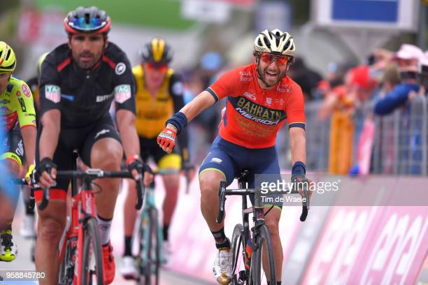 Arrival / Manuele Boaro of Italy and Team BahrainMerida / Celebration / during the 101st Tour of Italy 2018 Stage 10 a 244km stage from Penne to...