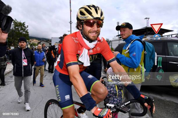 Arrival / Manuele Boaro of Italy and Team BahrainMerida / during the 101st Tour of Italy 2018 Stage 10 a 244km stage from Penne to Gualdo Tadino /...