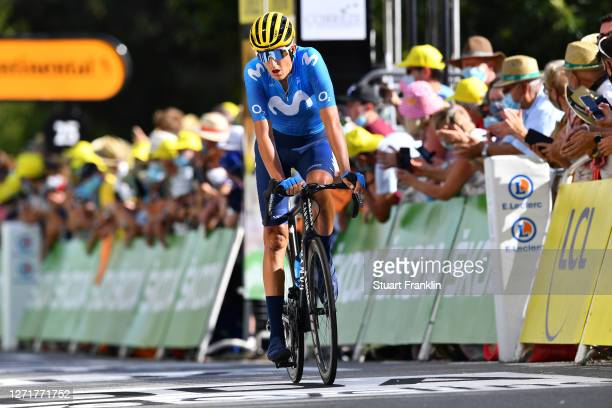 Arrival / Marc Soler Gimenez of Spain and Movistar Team / during the 107th Tour de France 2020, Stage 12 a 218km stage from Chauvigny to Sarran...