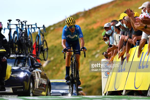 Arrival / Marc Soler Gimenez of Spain and Movistar Team / during the 107th Tour de France 2020, Stage 13 a 191,5km stage from Châtel-Guyon to Pas de...
