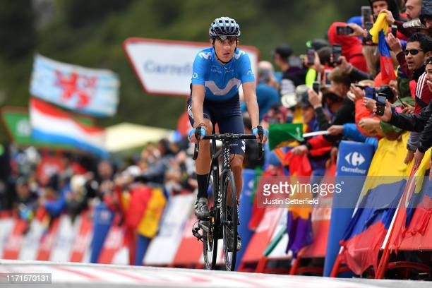 Arrival / Marc Soler of Spain and Movistar Team / during the 74th Tour of Spain 2019, Stage 9 a 94,4km stage from Andorra la Vella to Alto Els...