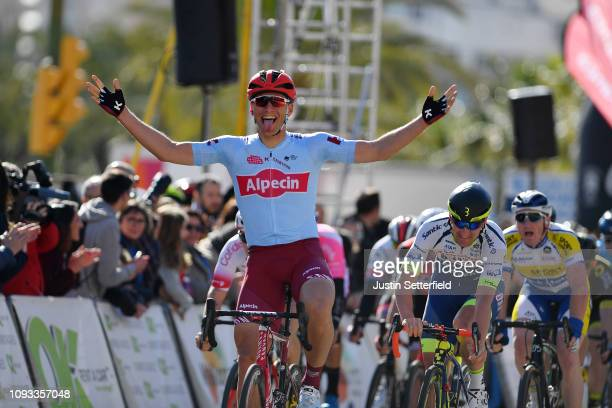 Arrival / Marcel Kittel of Germany and Team Katusha Alpecin / Celebration / Timothy Dupont of Belgium and Team Wanty Groupe Gobert / during the 28th...