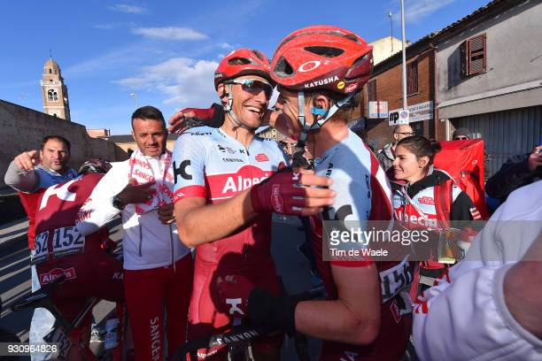 Arrival / Marcel Kittel of Germany Tony Martin of Germany Celebration / during the 53rd TirrenoAdriatico 2018 Stage 6 a 153km stage from Numana to...