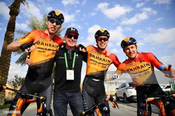 Arrival / Marcel Sieberg of Germany and Team Bahrain-Mclaren / Phil Bauhaus of Germany and Team Bahrain-Mclaren / Heinrich Haussler of Australia and...