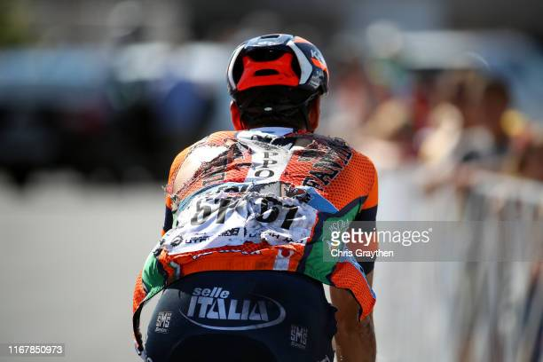 Arrival / Marco Canola of Italy and Team Nippo-Vini Fantini-Faizane / Crash / Injury / during the 15th Larry H. Miller Tour of Utah 2019 - Stage 1 a...