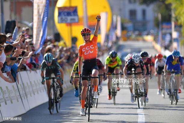 Arrival / Marianne Vos of The Netherlands and Team CCC - Liv / Celebration / Amanda Spratt of Australia and Team Mitchelton Scott / during the 44th...
