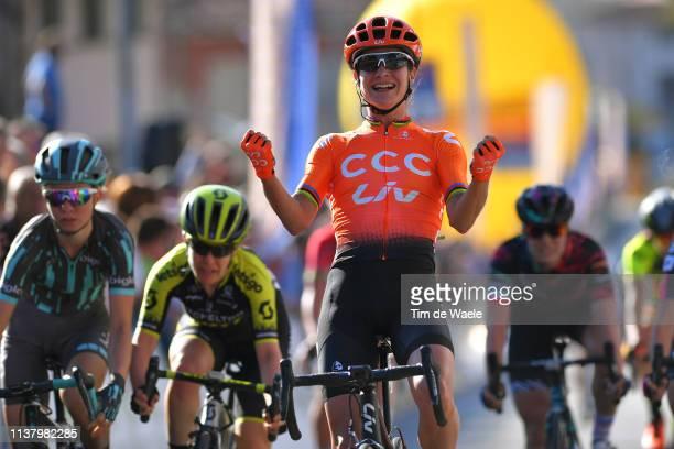 Arrival / Marianne Vos of The Netherlands and Team CCC - Liv / Celebration / Amanda Spratt of Australia and Team Mitchelton Scott / Cecilie Uttrup...