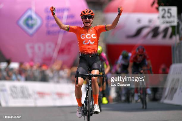Arrival / Marianne Vos of The Netherlands and Team CCC - Liv / Celebration / during the 30th Tour of Italy 2019 - Women, Stage 2 a 78,3km stage from...