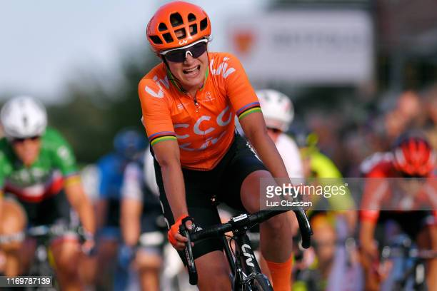 Arrival / Marianne Vos of The Netherlands and Team CCC - Liv / Celebration / during the 6th Ladies Tour of Norway 2019, Stage 2 a 133,6km from Mysen...