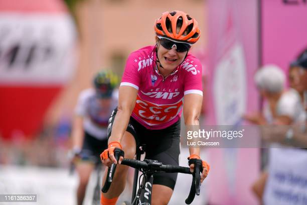 Arrival / Marianne Vos of The Netherlands and Team CCC - Liv Cyclamen Points Jersey / Celebration / during the 30th Tour of Italy 2019 - Women, Stage...
