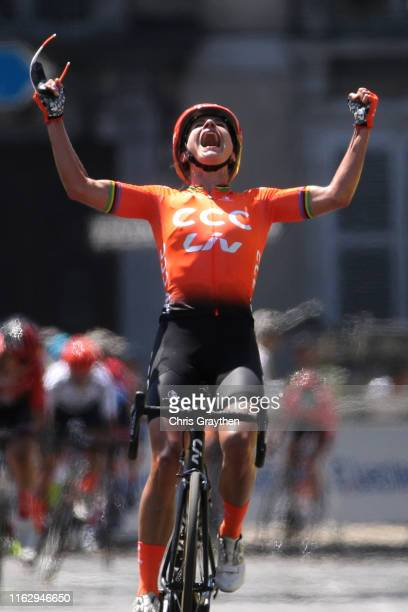 Arrival / Marianne Vos of The Netherlands and Team CCC-Liv / Celebration / Leah Kirchmann of Canada and Team Sunweb Women / Cecilie Uttrup Ludwig of...