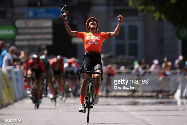 Arrival / Marianne Vos of The Netherlands and Team CCCLiv / Celebration / Leah Kirchmann of Canada and Team Sunweb Women / Cecilie Uttrup Ludwig of...