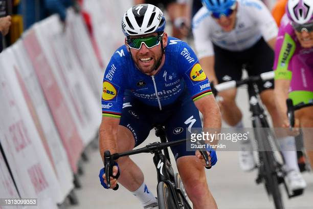 Arrival / Mark Cavendish of United Kingdom and Team Deceuninck - Quick-Step Celebration during the 56th Presidential Cycling Tour Of Turkey 2021,...