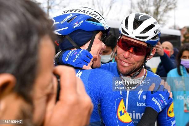 Arrival / Mark Cavendish of United Kingdom and Team Deceuninck - Quick-Step & Fabio Jakobsen of Netherlands and Team Deceuninck - Quick-Step...