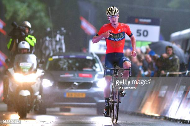 Arrival / Mark Padun of Ukraine and Bahrain Merida Pro Cycling Team / Celebration / during the 3rd Velon Hammer Series 2018 Stage 1 a 77km race from...
