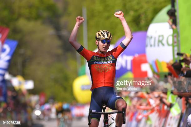 Arrival / Mark Padun of Ukraine and Team Bahrain Merida / Celebration / during the 42nd Tour of the Alps 2018, Stage 5 a 164,2km stage from...