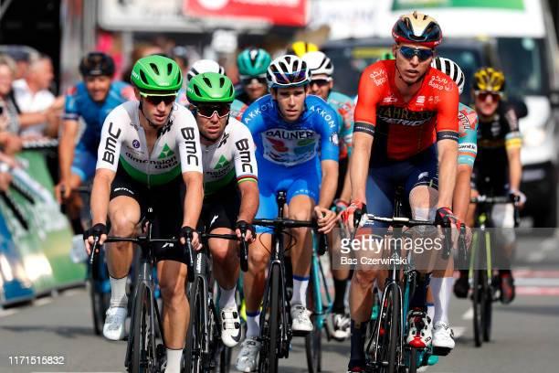 Arrival / Mark Renshaw of Australia and Team Dimension Data / Mark Cavendish of United Kingdom and Team Dimension Data / Marcel Sieberg of Germany...