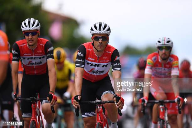 Arrival / Markel Irizar of Spain and Team Trek - Segafredo / during the 102nd Giro d'Italia 2019, Stage 18 a 222km stage from Valdaora to Santa Maria...