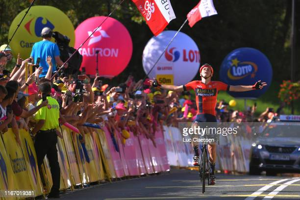 Arrival / Matej Mohoric of Slovenia and Bahrain Merida / Celebration / during the 76th Tour of Poland 2019 Stage 7 a 153km stage from Bukovina Resort...