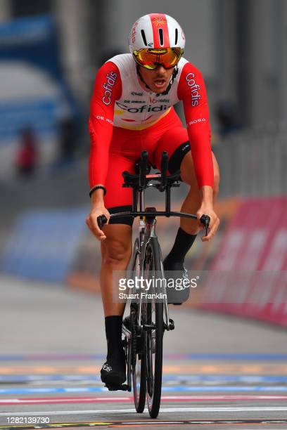 Arrival / Mathias Le Turnier of France and Team Cofidis Solutions Credits / during the 103rd Giro d'Italia 2020, Stage 21 a 15,7km Individual time...
