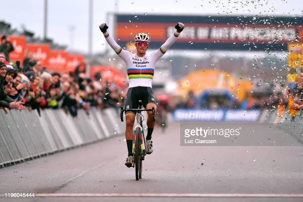 Arrival / Mathieu Van Der Poel of The Netherlands and Team Corendon - Circus / Celebration / during the 15th Heusden-Zolder World Cup 2019 / @UCI_CX...