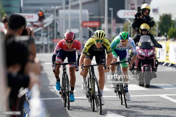 Arrival / Matteo Trentin of Italy and Team Mitchelton-Scott / Sprint qualification / during the 7th Tour de France Saitama Criterium 2019 / @LeTour /...