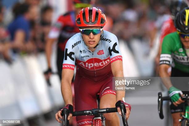 Arrival / Maurits Lammertink of The Netherlands and Team KatushaAlpecin / during the 58th Vuelta Pais Vasco 2018 Stage 5 a 1647km stage from...