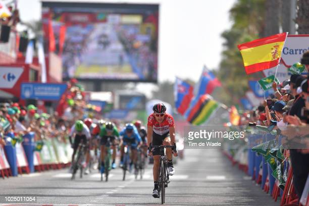 Arrival / Maxime Monfort of Belgium and Team Lotto Soudal / during the 73rd Tour of Spain 2018, Stage 5 a 188,7km stage from Granada to Roquetas de...