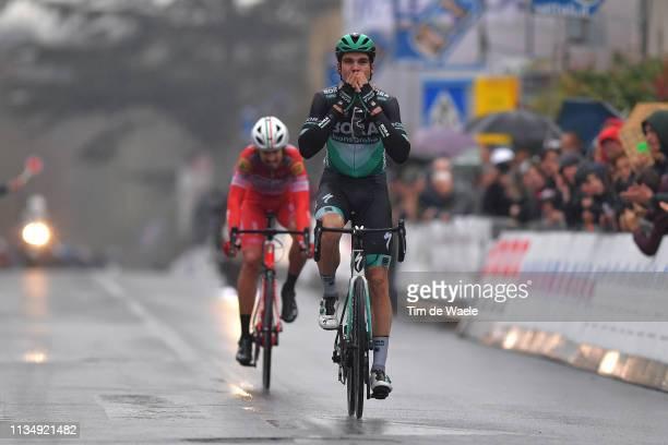 Arrival / Maximilian Schachmann of Germany and Team Bora-Hansgrohe / Celebration / Mattia Cattaneo of Italy and Team Androni Giocattoli - Sidermec /...